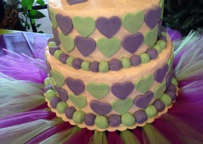 Hearts Birthday Cake