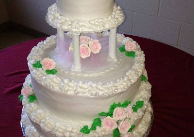 Medium size wedding cake