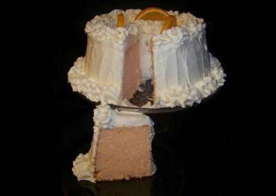 Orange Dreamscicle Cake Cut