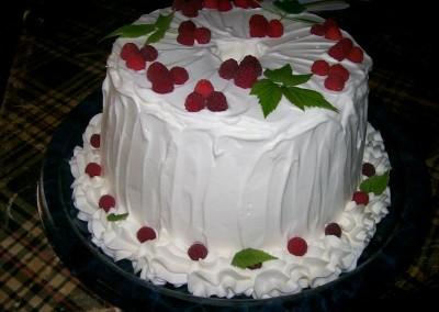 Raspberry Tube Cake