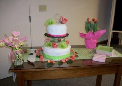 Springtime Floral Cake Display