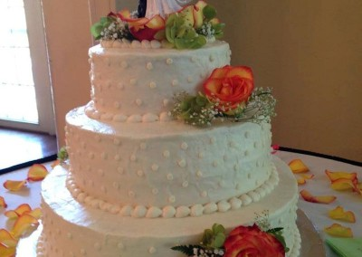 Stacked 3 tier Wedding Cake