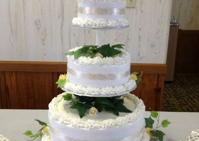 Wedding Cake with Yellow Flowers
