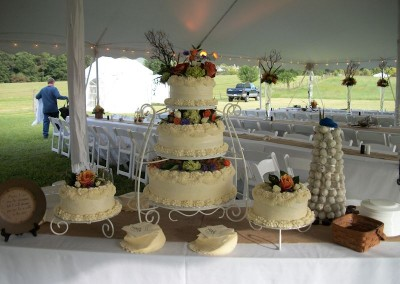 Wedding Reception Cake Set up